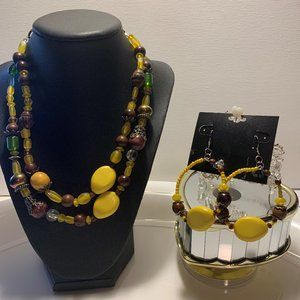 Custom Made Necklace with Earrings.